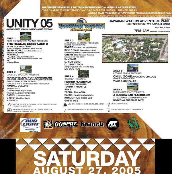 Unity 05 - Hawaii's First Annual Music & Arts - Saturday August 27